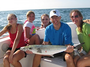 Enjoy some family fun while fishing in Pensacola